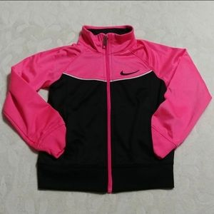 Nike zip track athletic lightweight jacket pockets